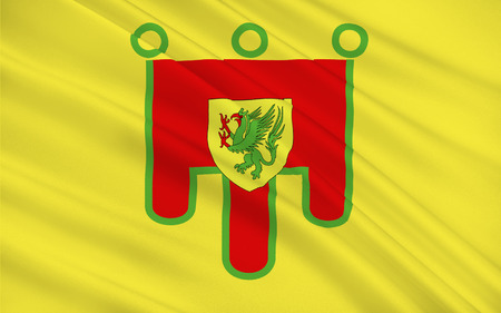 aurillac: Flag of Puy-de-Dome is a department in the centre of France named after the famous dormant volcano, the Puy de Dome