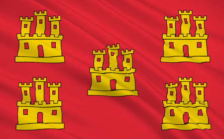 western town: Flag of Poitou - Charentes - region in western France, the relevant historical region of Poitou. The main town - Poitiers.
