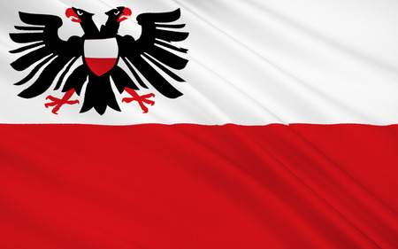 holstein: Flag of Lubeck is a city in Schleswig-Holstein, northern Germany, and one of the major ports of Germany.