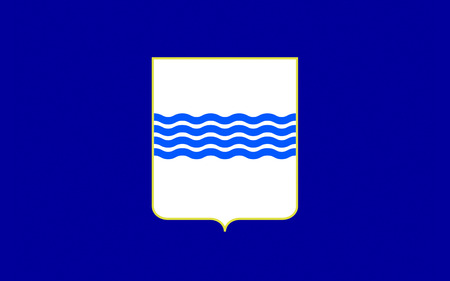 lucania: Flag of Basilicata also known as Lucania, is a region in the south of Italy Stock Photo