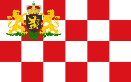 nederland: Flag of North Brabant is a province in the south of the Netherlands