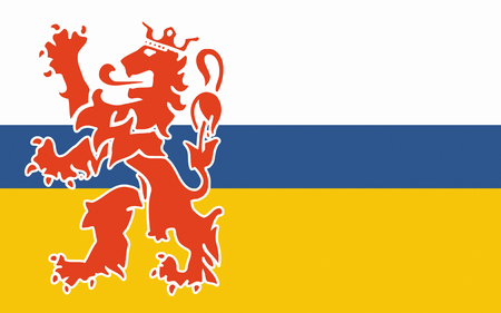 nederland: Flag of Limburg is the southernmost of the 12 provinces of the Netherlands Stock Photo