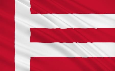 north brabant: Flag of Eindhoven is a municipality and a city located in the province of North Brabant in the south of the Netherlands Stock Photo