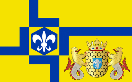 lelystad: Flag of Lelystad is a municipality and a city in the centre of the Netherlands, and it is the capital of the province of Flevoland