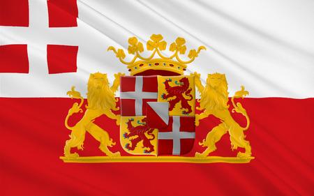 nederland: Flag of Utrecht is a province of the Netherlands