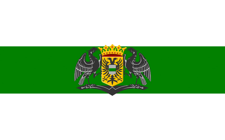eponymous: Flag of Groningen is the main municipality as well as the capital city of the eponymous province in the Netherlands Stock Photo