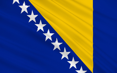 hercegovina: Flag of Bosnia  is a country in Southeastern Europe located on the Balkan Peninsula