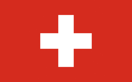 Flag of Switzerland officially the Swiss Confederation is a federal republic in Europe. Banco de Imagens - 57106495