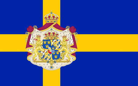Flag of Sweden officially the Kingdom of Sweden is a Scandinavian country in Northern Europe Stock Photo