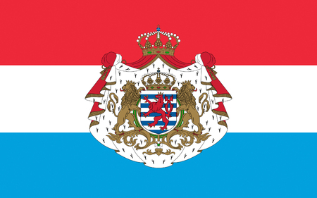 Flag of Luxembourg officially the Grand Duchy of Luxembourg is a landlocked country in western Europe Stock Photo