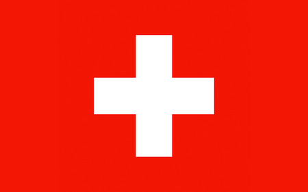 confederation: Flag of Switzerland officially the Swiss Confederation is a federal republic in Europe. Stock Photo