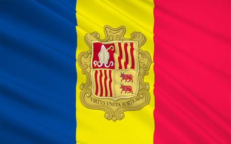 principality: The national flag of the Principality of Andorra - adopted in 1866.