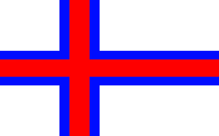 dependency: Flag of Faroe Islands is an island country consisting of an archipelago of small islands between the Norwegian Sea and the North Atlantic Ocean Stock Photo
