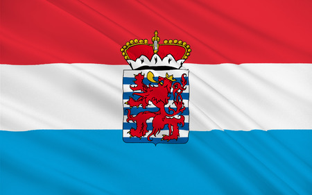 landlocked: Flag of Luxembourg officially the Grand Duchy of Luxembourg is a landlocked country in western Europe Stock Photo