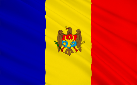 former: The regional flag of the Moldovia (or Moldavia) - a former principality of southeast Europe. In 1861 Moldavia united with Wallachia to form Romania.