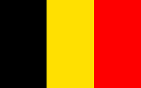western state: Flag of Belgium officially the Kingdom of Belgium, is a sovereign state in Western Europe Stock Photo