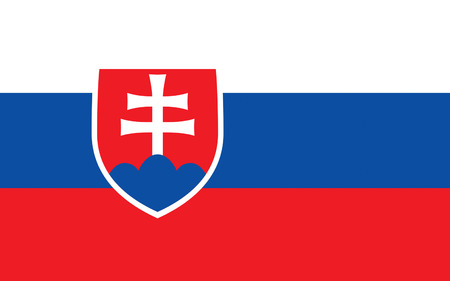 Flag of Slovakia officially the Slovak Republic is a landlocked country in Central Europe Stock Photo