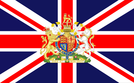 the royal county: Flag of Uited Kingdom of Great Britain and Northern Ireland, commonly known as the United Kingdom (UK) or Britain is a sovereign state in Europe. Stock Photo