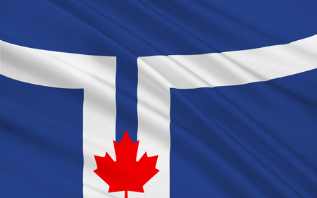 provincial: Flag of Toronto is the most populous city in Canada, the provincial capital of Ontario Stock Photo