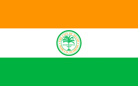 atlantic city: Flag of Miami is a city located on the Atlantic coast in southeastern Florida and the seat of Miami-Dade County