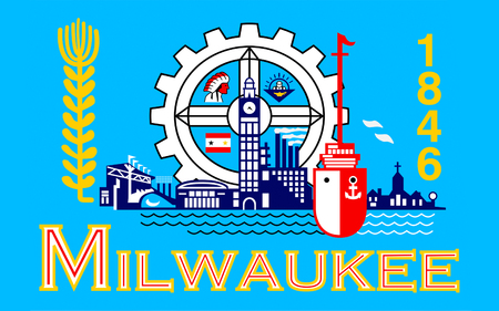milwaukee: Flag of Milwaukee is the largest city in the State of Wisconsin and the fifth-largest city in the Midwestern United States