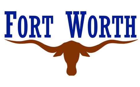 allegiance: Flag of Fort Worth is the 16th-largest city in the United States and the fifth-largest city in the state of Texas Stock Photo