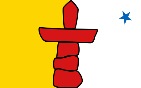 allegiance: Flag of Nunavut is the newest, largest, northernmost, and least populous territory of Canada