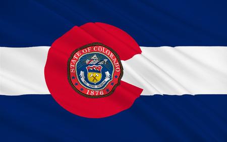 Flag of Colorado, Denver - United States