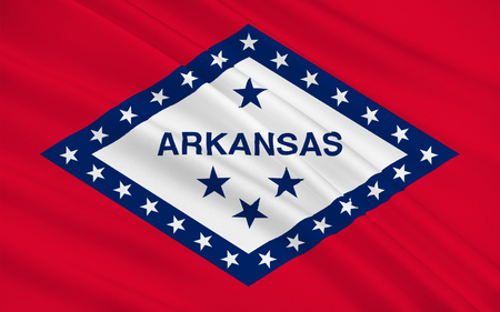 little rock: Flag of Arkansas is a state located in the Southeastern region of the United States