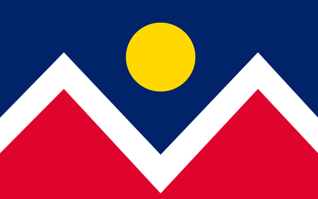 Flag of Denver is the capital and most populous municipality of the U.S. state of Colorado - United States