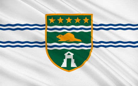 british columbia: Flag of Surrey is a city in the province of British Columbia, Canada Stock Photo