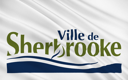 quebec city: Flag of Sherbrooke is a city in southern Quebec, Canada