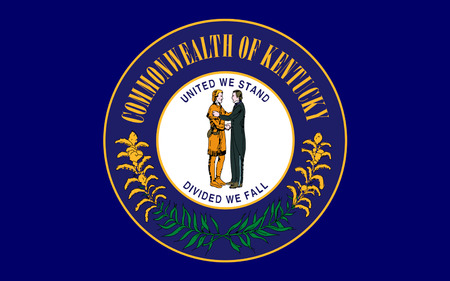 louisville: Flag of Kentucky officially the Commonwealth of Kentucky, is a state located in the east south-central region of the United States