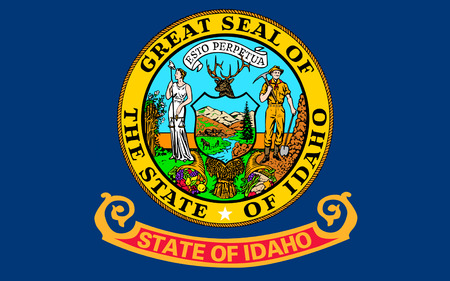 northwestern: Flag of Idaho s a state in the northwestern region of the United States Stock Photo