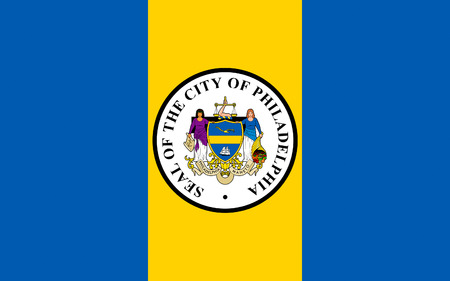 commonwealth: Flag of Philadelphia is the largest city in the Commonwealth of Pennsylvania and the fifth-most populous in the United States Stock Photo