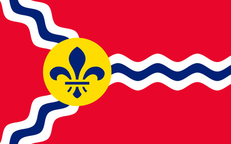 louis: Flag of St. Louis is a city and port in the U.S. state of Missouri Stock Photo