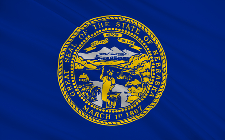 allegiance: Flag of Nebraska is a state that lies in both the Great Plains and the Midwestern United States