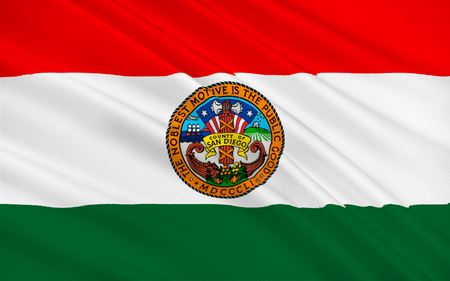 sierra nevada: Flag of San Diego County is a county located in the southwestern corner of the state of California, in the United States