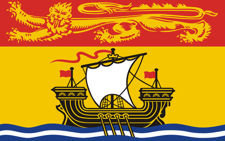 bilingual: Flag of New Brunswick is one of Canadas three Maritime provinces and is the only constitutionally bilingual province Stock Photo