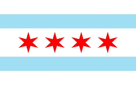 midwest: Flag of Chicago is the third most populous city in the United States.