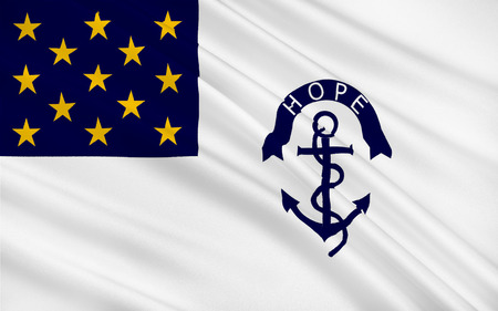 providence: Flag of Rhode Island officially the State of Rhode Island and Providence Plantations, is a state in the New England region of the United States