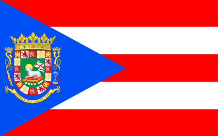 Flag of Puerto Rico officially the Commonwealth of Puerto Rico United States territory located in the northeastern Caribbean Banco de Imagens