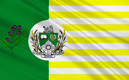 regina: Flag of Saskatoon is the largest city in the Canadian province of Saskatchewan Stock Photo