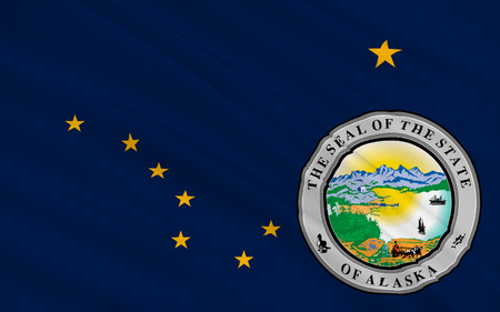 allegiance: Flag of Alaska, Juneau - United States
