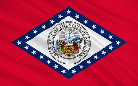 allegiance: Flag of Arkansas is a state located in the Southeastern region of the United States