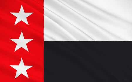 houston flag: Flag of Laredo is the county seat of Webb County, Texas, United States Stock Photo