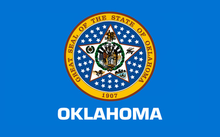 oklahoma: Flag of Oklahoma is a state located in the South Central United States