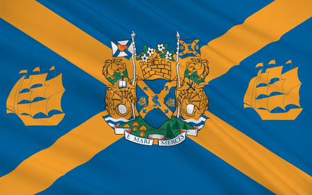 nova: Flag of Halifax legally known as the Halifax Regional Municipality (HRM), is the capital of the province of Nova Scotia, Canada Stock Photo