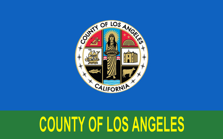 sierra nevada: Flag of Los Angeles County, officially the County of Los Angeles  is the most populous county in the United States Stock Photo
