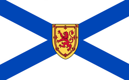 halifax: Flag of New Scotland, is one of Canadas three Maritime provinces, and one of the four provinces which form Atlantic Canada. Its provincial capital is Halifax Stock Photo